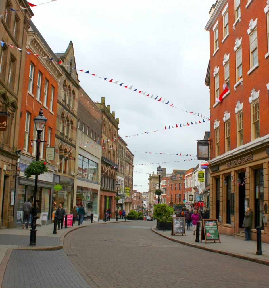 England-Derby-streets-flags-2012
