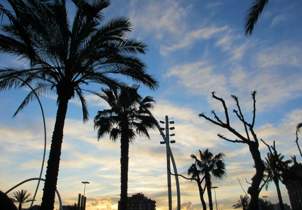 Barcelona-sunset-Port-Vell