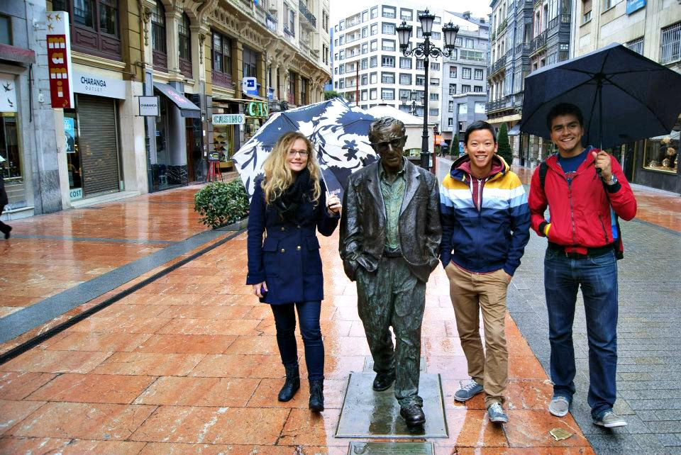 Oviedo-Asturias-Spain-Woody-Allen-statue