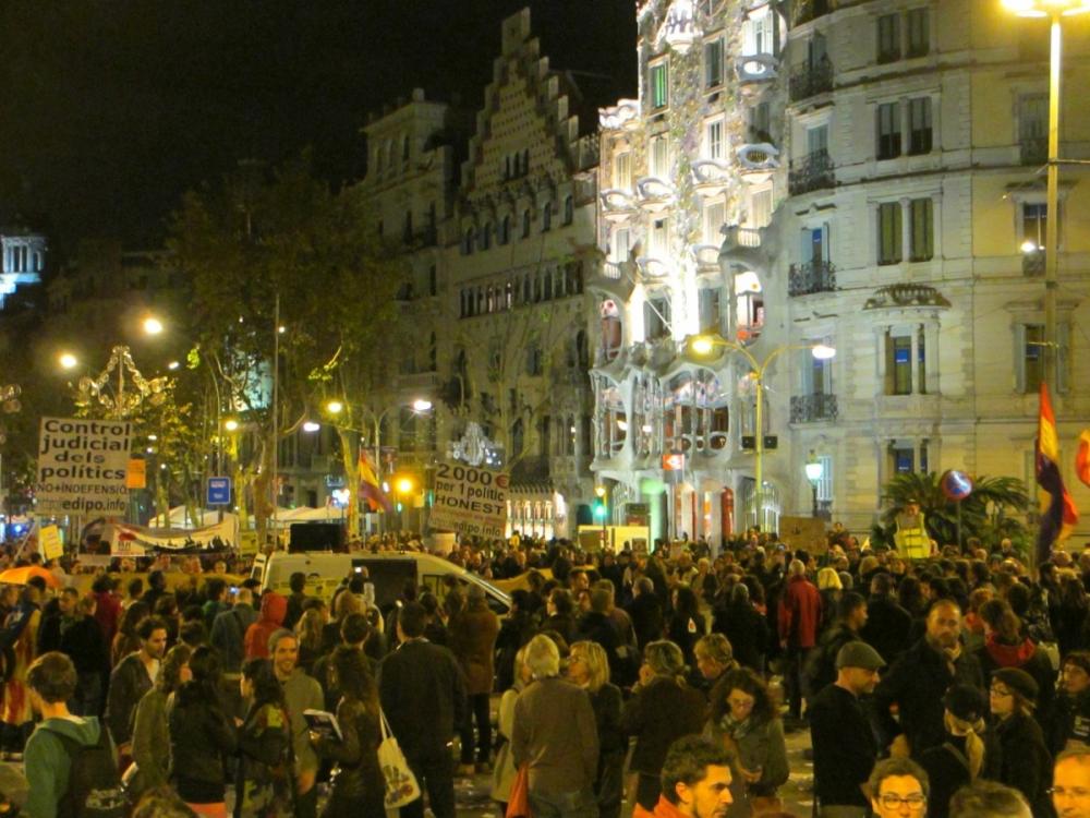 Spanish Protests: The N14 Vaga General in Barcelona
