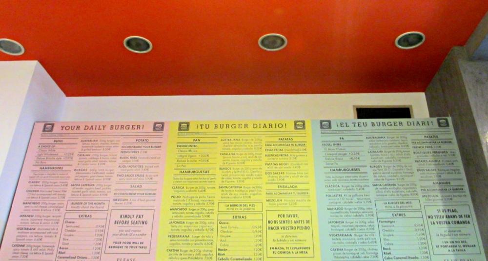 Kiosko-burger-Barcelona-menu