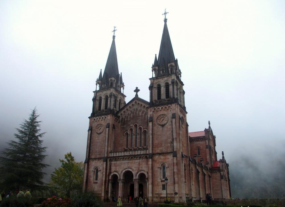 The Basilica of Santa María in Covadonga, Asturias
