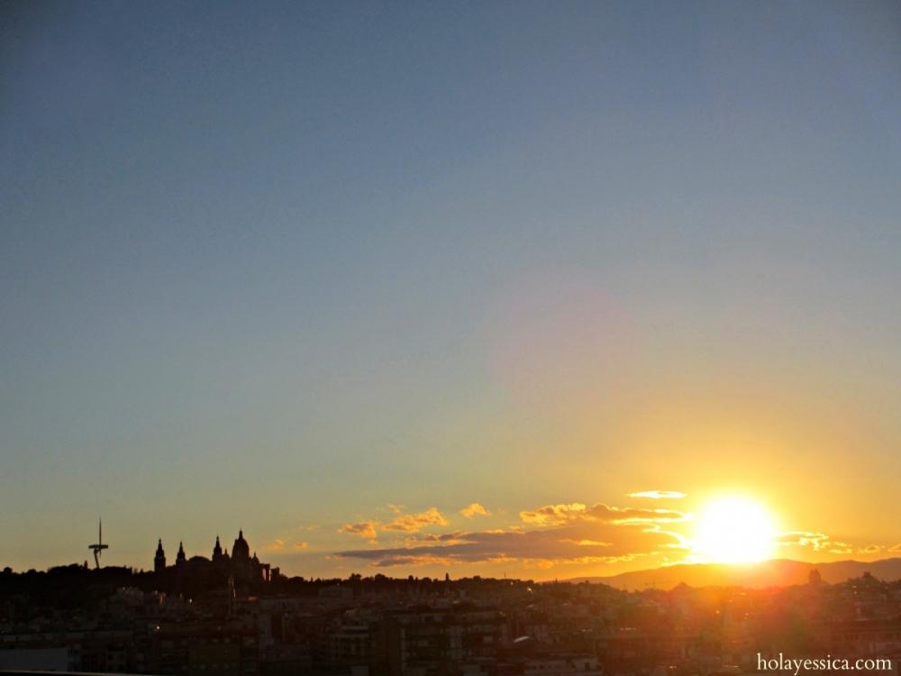 Barcelona-sunset-Montjuic-Spain