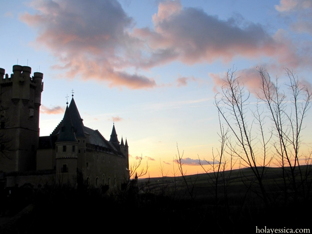 Segovia-Spain-castle-sunset