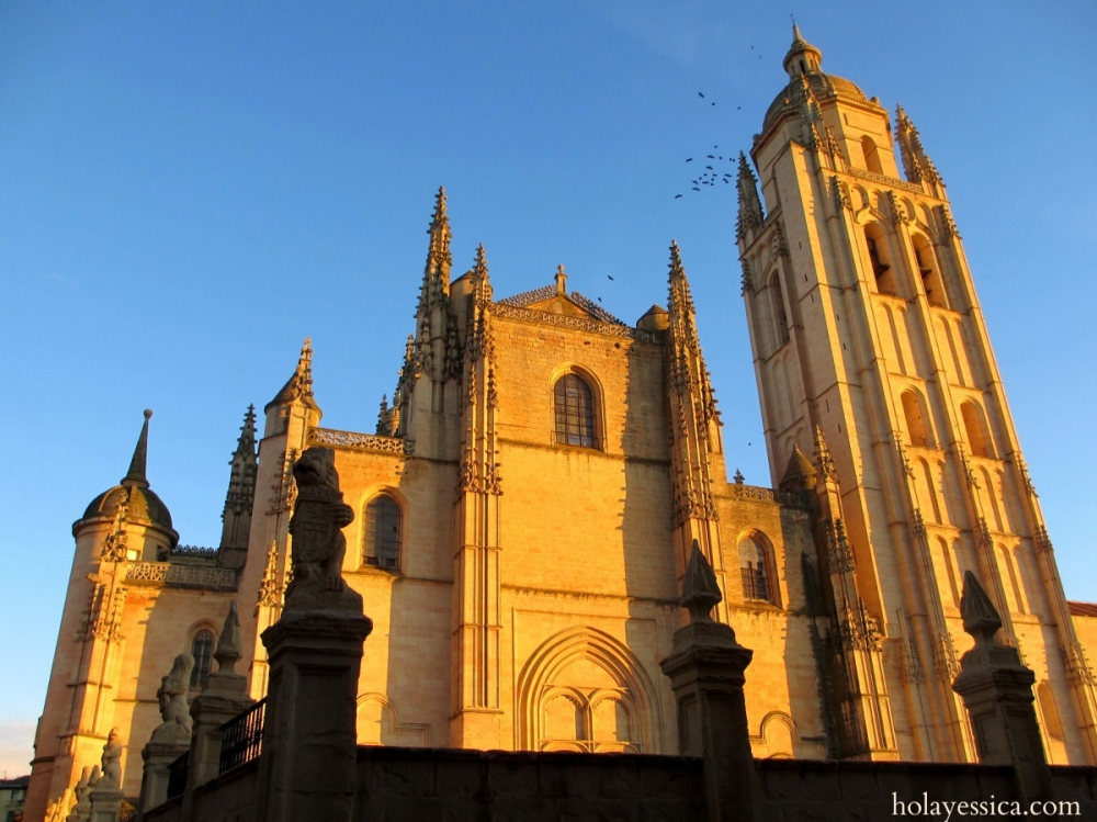 segovia-cathedral-spain-sunset