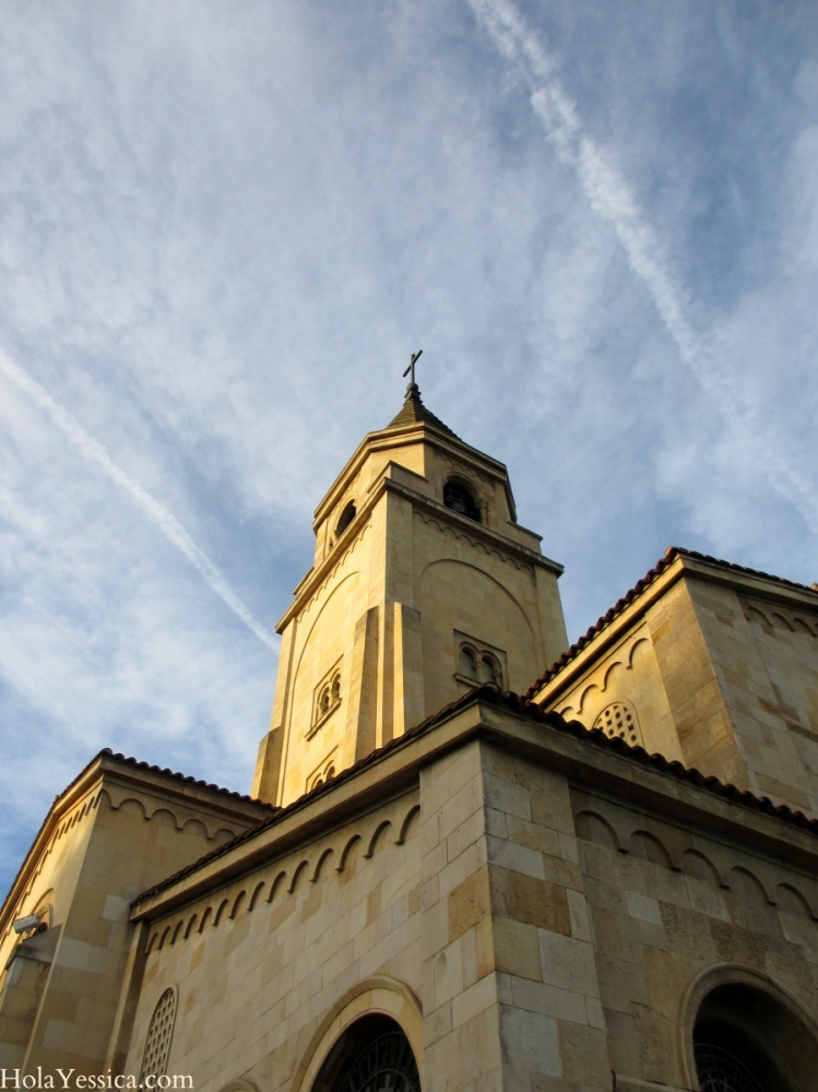 WISW: Gijón's Seaside Church at Sunset