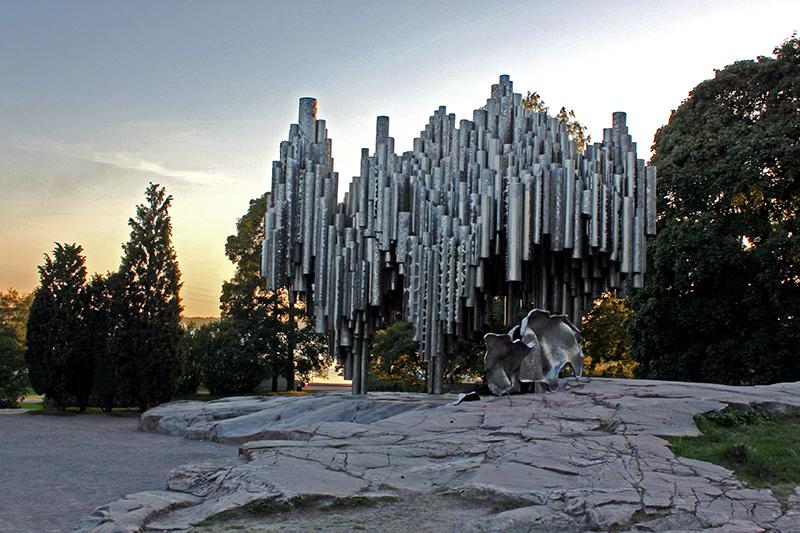 helsinki-sibelius-monument-sunset