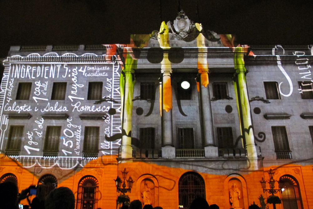 video-projection-placa-sant-jaume-barcelona